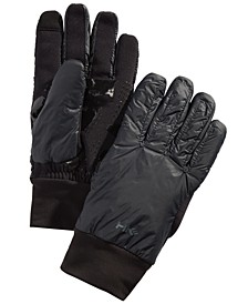 Men's Midweight Mix-Media Gloves, Created For Macy's