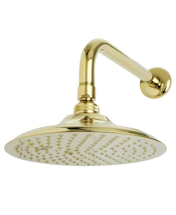 Kingston Brass - Victorian 8-Inch OD Brass Shower Head with 12-Inch Shower Arm in Polished Brass