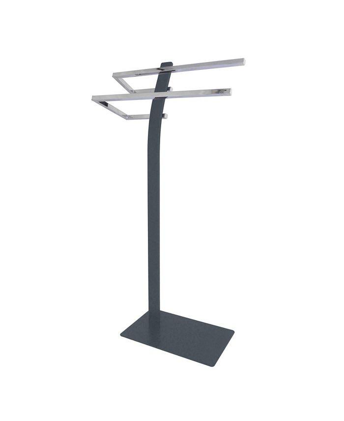 Kingston Brass - Pedestal Dual Towel Rack in Chrome