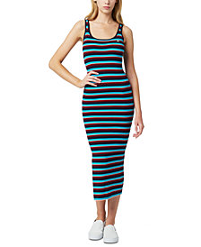 Juicy Couture Striped Sleeveless Sweater Dress