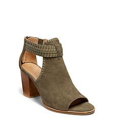 Tinsley Suede Open Toe Booties