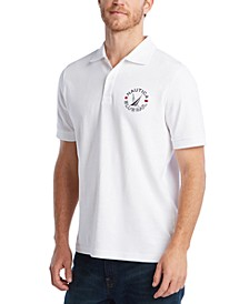 Men's Blue Sail Classic Fit Logo Polo Shirt, Created for Macy's