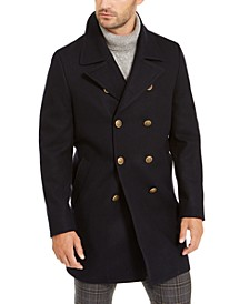Men's Classic-Fit Navy Double Breasted Peacoat