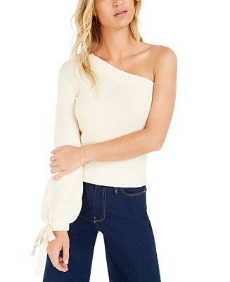 Becca Tilley X One Shoulder Volume Sleeve Sweater, Created For Macy's by General