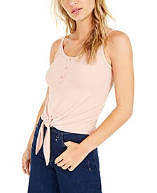 Becca Tilley x Ribbed Tie-Front Camisole Top, Created For Macy's