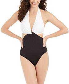 Twist Front One-Piece Swimsuit