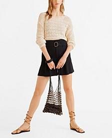 Belt High-Waist Shorts