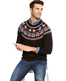 Men's Fair-Isle Family Family Sweater, Created For Macy's