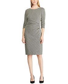 Petite Houndstooth Jacquard Dress