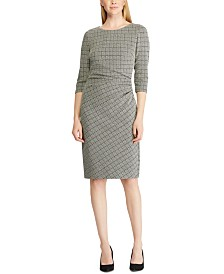 Lauren Ralph Lauren Petite Houndstooth Jacquard Dress