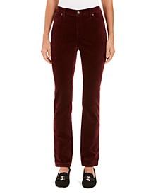 Petite Lexington Velveteen Straight-Leg Jeans, Created For Macy's