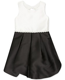Little Girls Colorblocked Bubble Dress