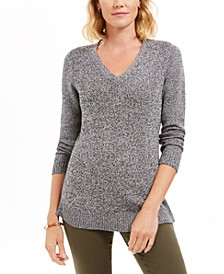 Marled-Knit Tunic Sweater, Created For Macy's
