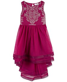 Little Girls Beaded High-Low Dress