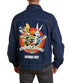 Member's Only Men's Looney Tunes Denim Trucker Jacket