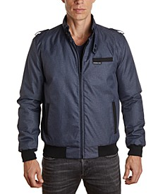 Men's Heathered Iconic Racer Jacket