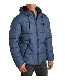 Member's Only Men's Heathered Puffer Jacket