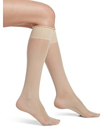 Women's Graduated Compression Sheer Knee High Socks