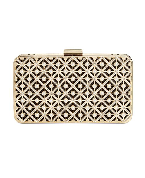 INC International Concepts INC Tess Pearl Sparkle Box Clutch, Created For Macy's