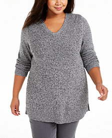 Charter Club Plus Size V-Neck Sweater, Created for Macy's