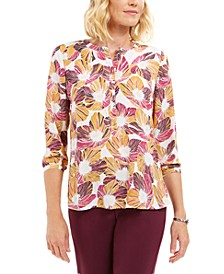 Printed Pleated-Back Blouse, Created For Macys