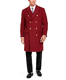 Orange Men's Slim-Fit Solid Overcoat