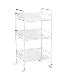 3-Tier Mesh Rolling Storage Cart