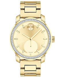 Women's Swiss Bold Gold Ion-Plated Stainless Steel Bracelet Watch 34mm