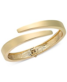 Gold-Tone Bypass Bangle Bracelet, Created For Macy's