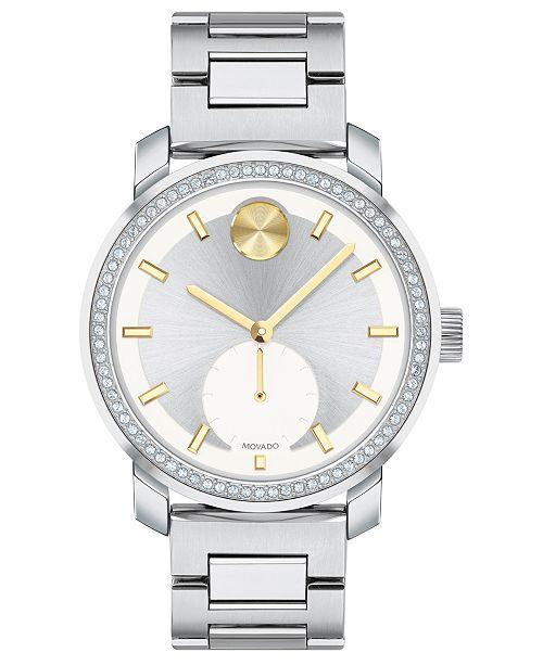 Movado Women's Swiss BOLD Stainless Steel Bracelet Watch 36mm