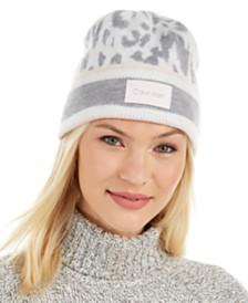 Calvin Klein Leopard Jacquard Beanie