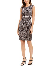 Animal Print Sequin Sheath Dress