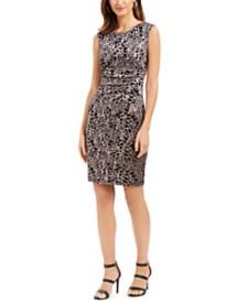 Jessica Howard Animal-Print Sheath Dress