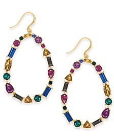 INC Gold-Tone Multi-Stone Open Drop Earrings, Created For Macy's