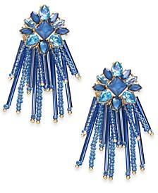 INC Gold-Tone Stone & Bead Chandelier Earrings, Created For Macy's