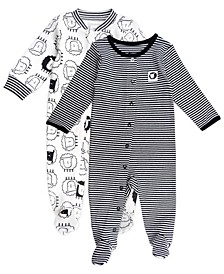 Baby Boy and Girl 2-Pack Footed Sleep and Plays