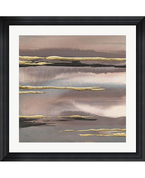 "Metaverse Gilded Morning Fog I Gold by Chris Paschke Framed Art, 32"" x 32"""