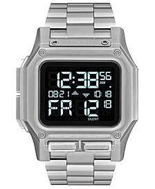 Men's Digital Regulus Stainless Steel Bracelet Watch 46mm