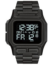 Nixon Men's Digital Regulus Black Stainless Steel Bracelet Watch 46mm