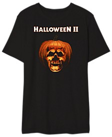 Halloween II Men's Pumpkin Skull Graphic Tshirt