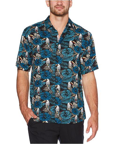 Cubavera Men's Big & Tall Regular-Fit Tropical Toucan-Print Shirt
