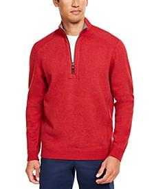 Men's Flip Side Classic-Fit Reversible Quarter-Zip Sweater, Created For Macy's