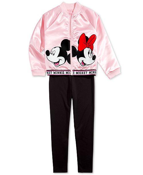 Disney Big Girls Bomber Jacket & Leggings