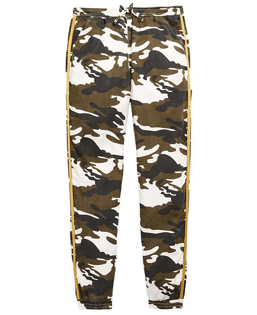 GUESS Big Girls Camo-Print Jogger Pants