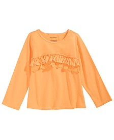 First Impressions Baby Girls Cotton Ruffled T-Shirt, Created for Macy's