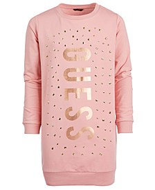 Big Girls Studded Sweatshirt Dress