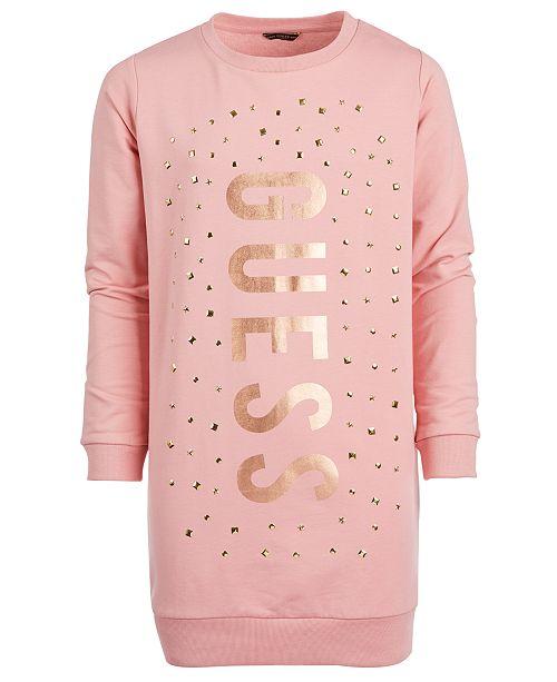 GUESS Big Girls Studded Sweatshirt Dress