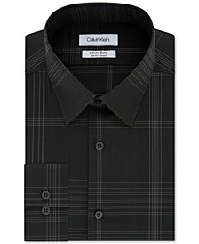 Men's Infinite Color Slim-Fit Non-Iron Stretch Check Dress Shirt