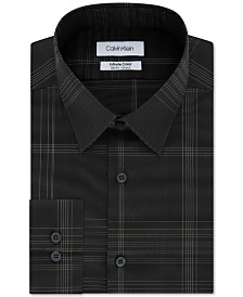 Calvin Klein Men's Infinite Color Slim-Fit Non-Iron Stretch Check Dress Shirt