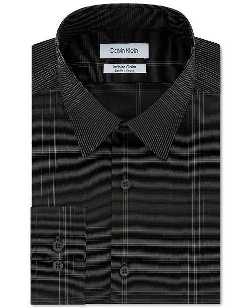 Calvin Klein Men's Infinite Color Slim-Fit Non-Iron Stretch Check Dress Shirt